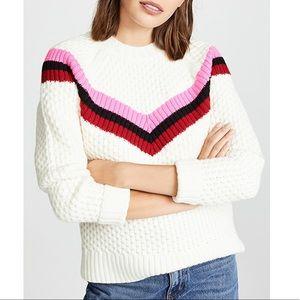 Milly Striped Varsity Sweater